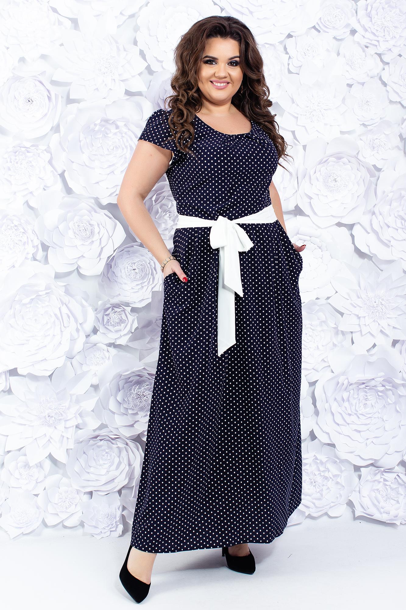 6cc9ab23426 Женское летнее платье с поясом и карманами купить оптом в Украине от ...