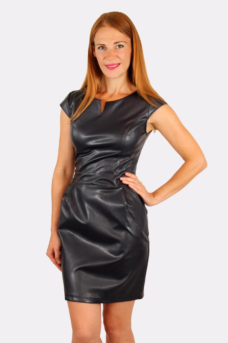 купить кожаное платье в украине