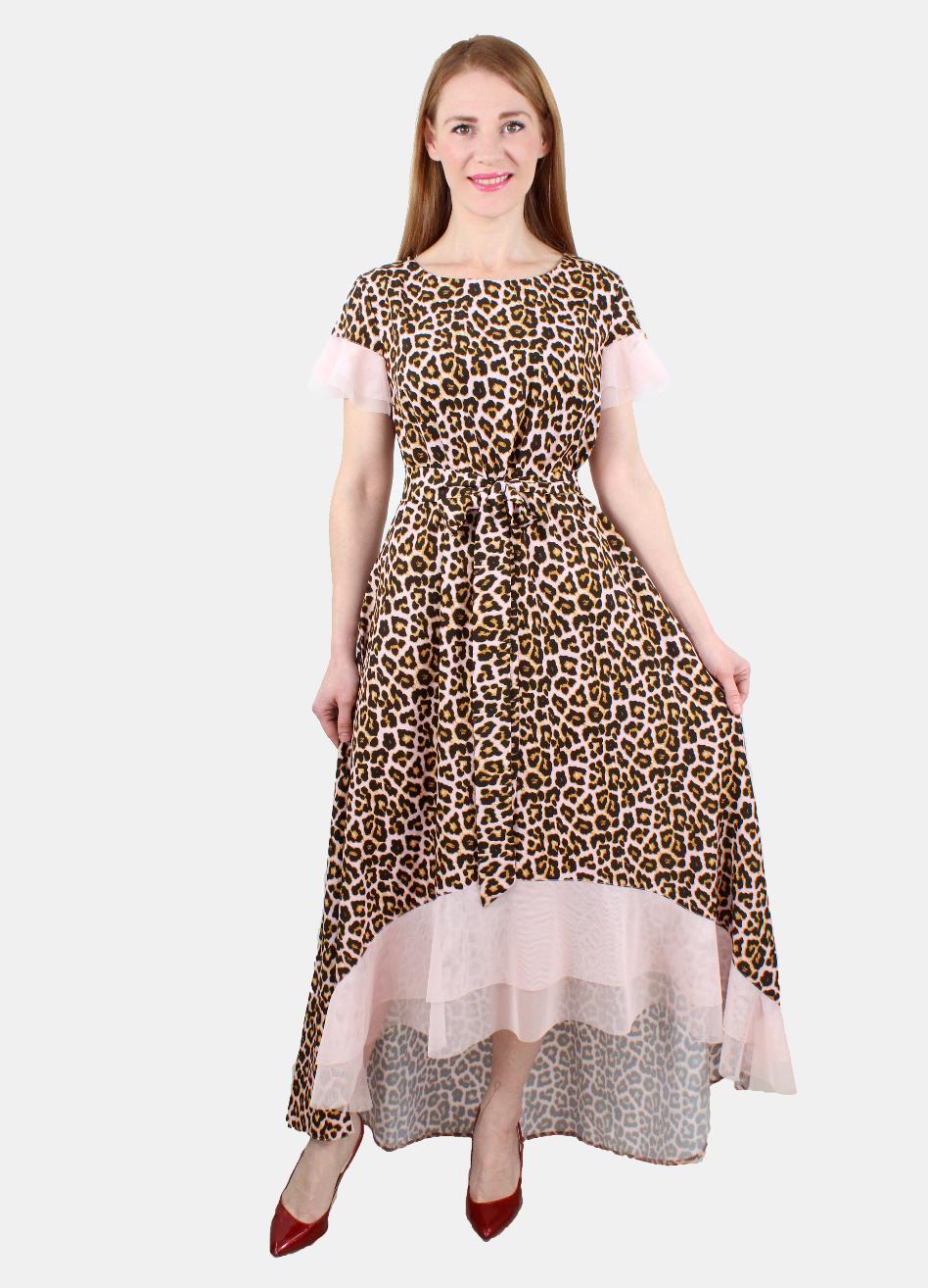 8d0a92c92a4 Леопардовое модное платье