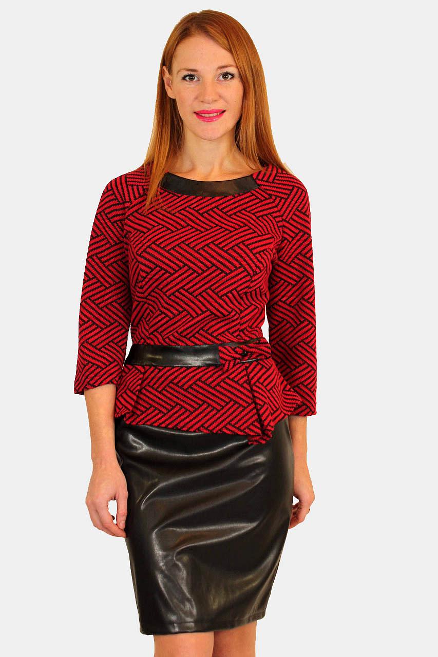 bd8ac994e41 Платье с кожаной юбкой купить оптом в Украине от производителя GOLS