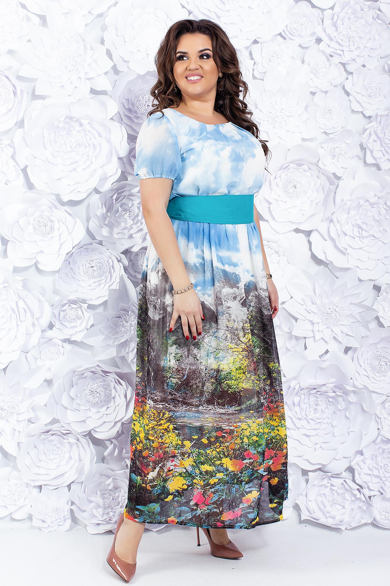 d49d1edbdc7 Платье из шифона с широким поясом купить оптом в Украине от ...
